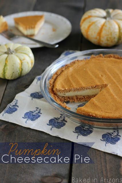 Pumpkin Cheesecake Pie - a pretty layered pie that is easy to make!