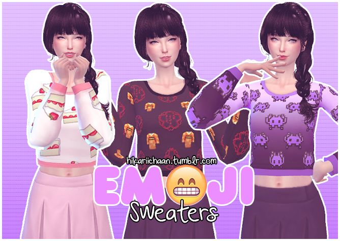 ☺️ Emoji Sweaters by HikariiChaan #geek #clothes #top