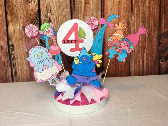 Hey, I found this really awesome Etsy listing at https://www.etsy.com/listing/489265744/trolls-personalized-banner-cake-topper