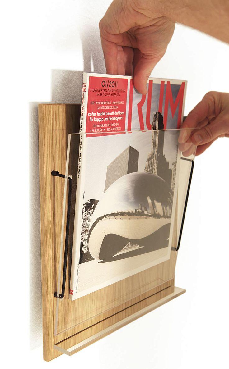 Wall mounted brochure display rack - RIDÅ by Joel Karlsson - KARL ANDERSSON