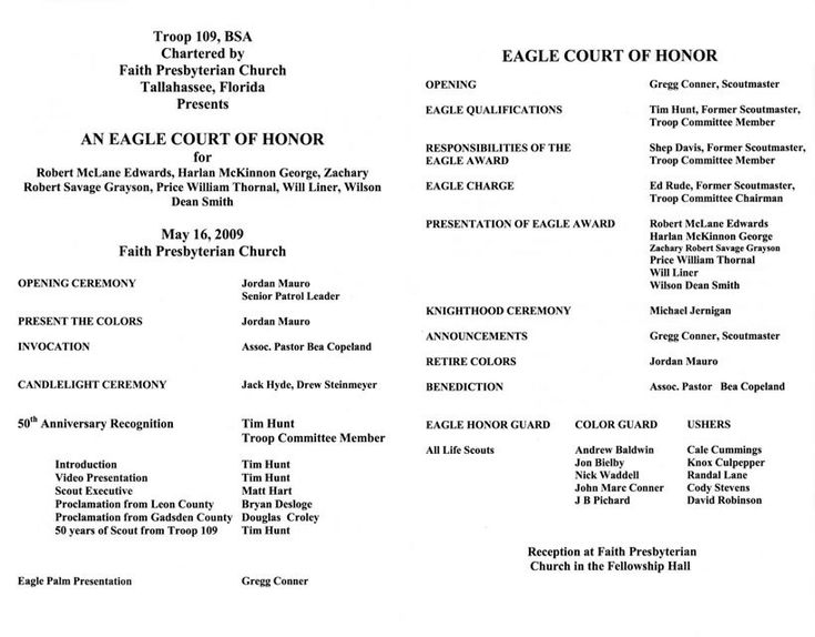 eagle scout court of honor program template - eagle scout ceremony programs templates eagle scout