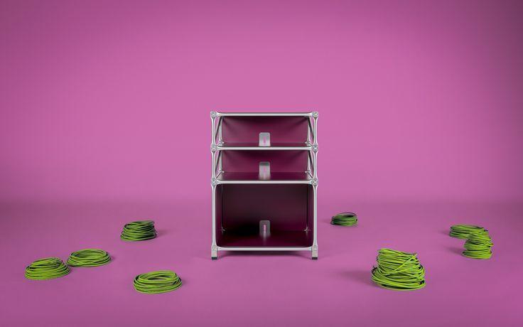 Das modulare HiFi-Rack ist flexibel und individuell anpassbar. Form, Farbe und Größe lassen sich je nach Bedarf aufeinander abstimmen.