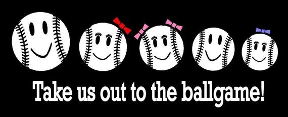 Baseball Family Car Decal Sticker Custom Made by StickersByDesign, $10.99