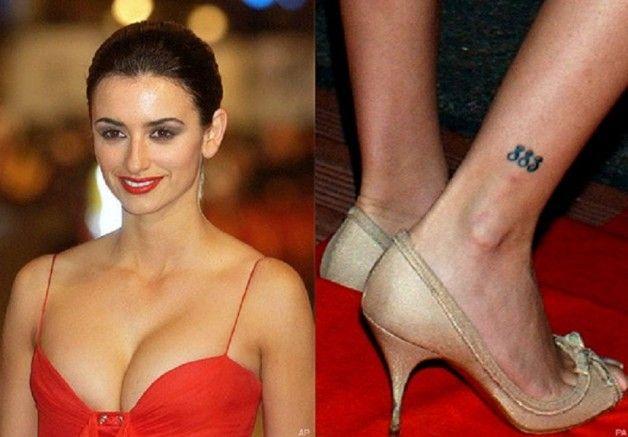 Penelope Cruz 883 Tribal Tattoo On Right Leg | Tattoo