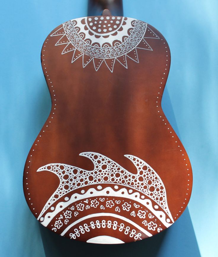 Zentangle-Inspired Hand-Painted Ukulele by UkuLeeShee on Etsy https://www.etsy.com/listing/252518422/zentangle-inspired-hand-painted-ukulele
