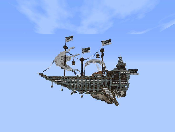Minecraft flying ship | Minecraft ideas