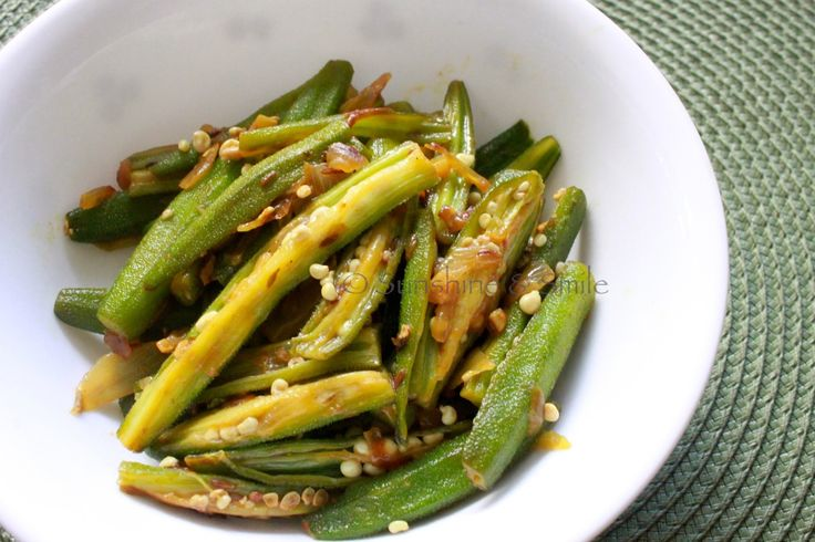 Sauteed Okra and Onion | Playful Cooking
