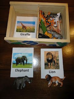 Animal matching game  Dementia activity box