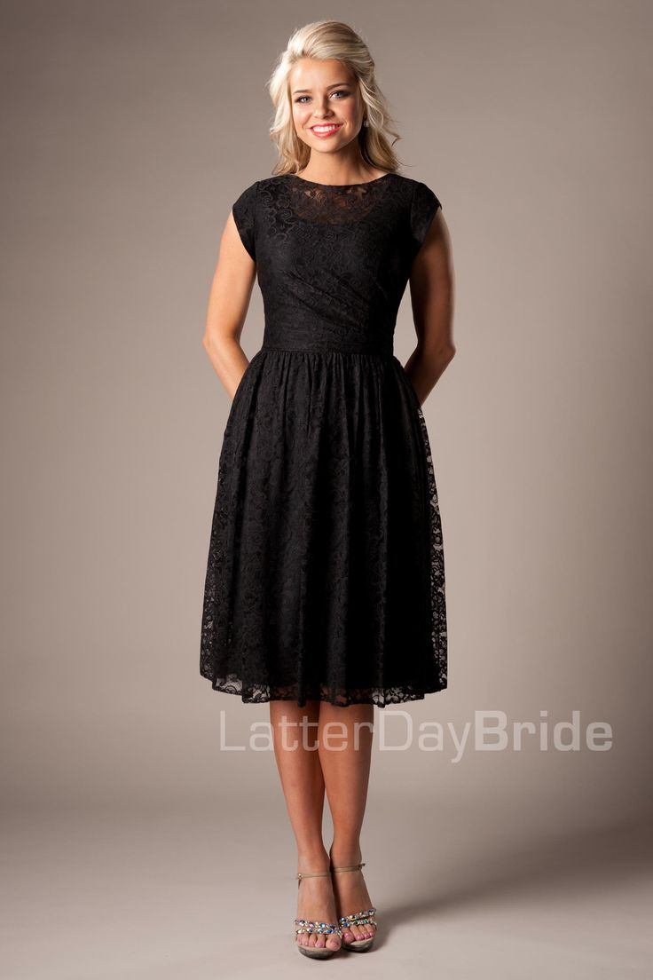 Black dress for wedding party - I D Love This As A Bridesmaids Dress If They Had It In One Of