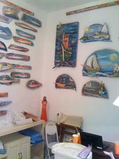 seaside mykonos furniture: Νεοι πίνακες με παλιά ξύλα με θέματα βάρκες . Drif...