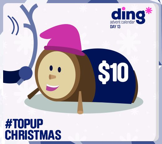 """In Catalonia, Spain, kids beat the 'Tió de Nadal' log with a  stick so he """"drops"""" presents - and our Tio de Nadal has dropped $10 top-up and we want to share it with you for Day 13 of our #Christmas #Advent #Calendar!"""