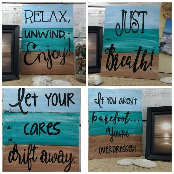 These are 9 beautiful handmade nautical pieces of art, made from pallet boards and ready for your home! You can chose from 9 designs, and at a price that wont break the bank! All signs are about 8x10 with some variation due to the nature of the pallet boards. All signs have been hand painted and varnished. Each sign is just a little different, due to boards being one of a kind, and the hand painting. The photos are representative photos only. - Made with reclaimed pallet wood. - Each sign…