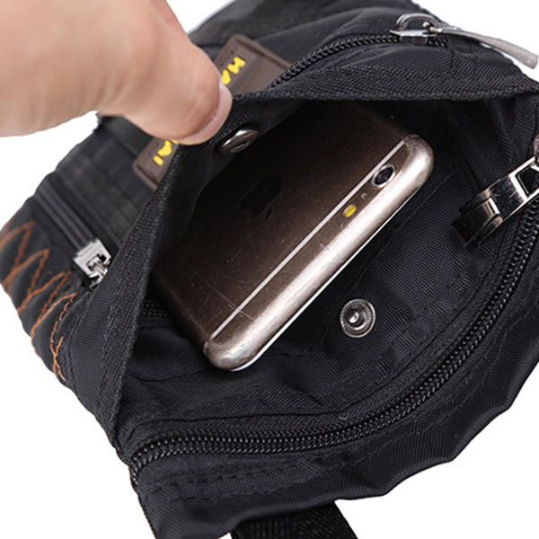 Men Nylon Waterproof Vertical Crossbody Bag Lightweight Casual Travel Shoulder B - US$13.99