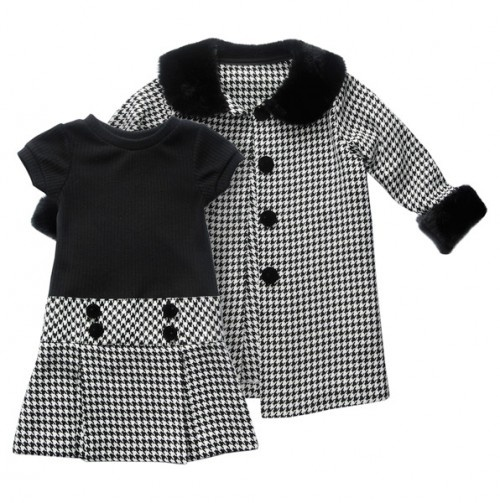 Toddler Houndstooth Dress and Coat Set - Totally Trendy - Events