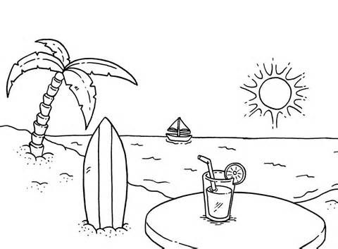 download free beach coloring pages
