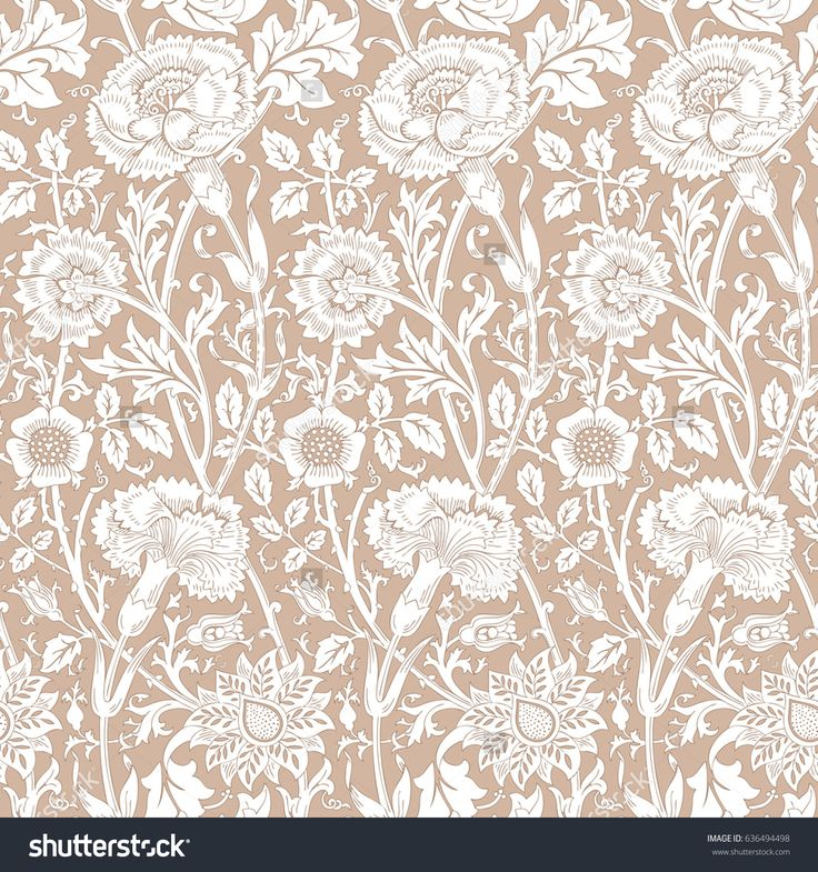 Floral seamless pattern. Modern background for interior decoration, wrapping paper, graphic design and textile. Vector illustration.