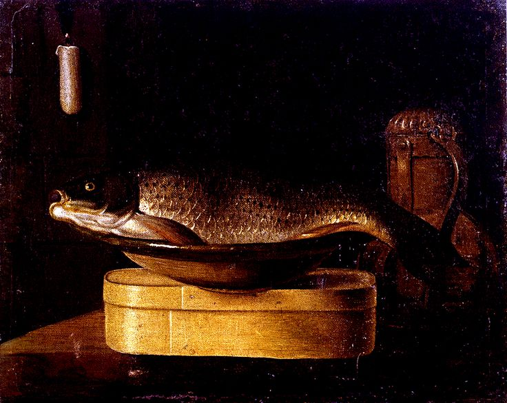 13 Sebastien Stoskopff carp in_a bowl wooden box Kunsthalle Bremen