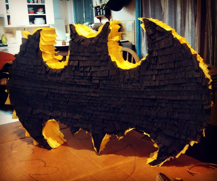 Homemade Batman pinata