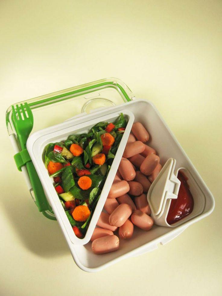 Moha Konyha: Bento box - bento doboz 14 virsli salátával