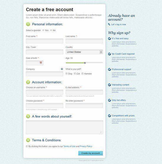 7 best UX \/ UI forms images on Pinterest Fields, Registration - registration forms
