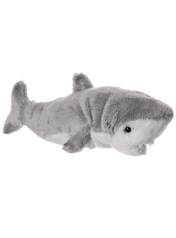 sleeping with the shark plush toy at plasticland - Hai Kissen Muster