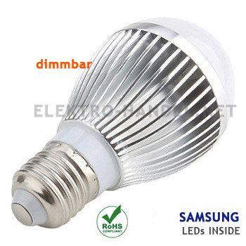 Trend  uac LED Lampe E Watt dimmbar Gl hlampe mit Samsung LEDs K