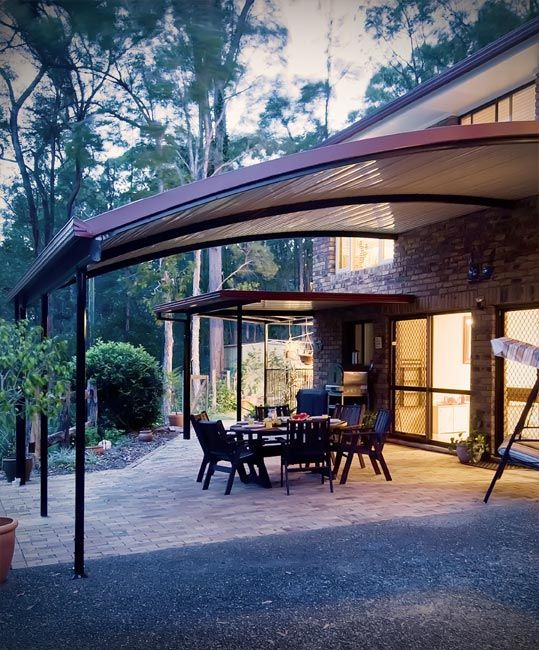 Stratco Outback Curved Roof Awnings Carports Pergolas