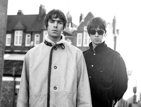 Liam and Noel Gallagher of Oasis