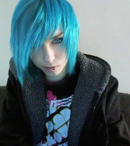 boy with blue hair tumblr - photo #12