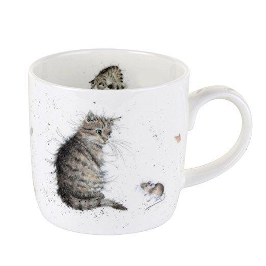 Par Royal Worcester Wrendale chat et souris Chat simple Mug