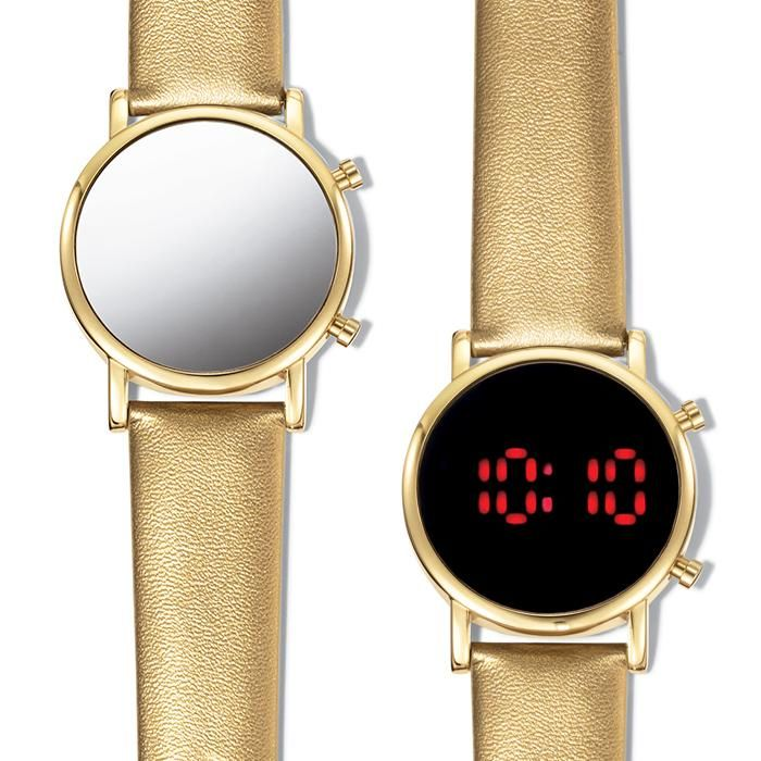 A digital watch with a dual function. Watch face can be used as a mirror - great for touching up lipstick on the go! - and then when you push the side button, you will see a digital time display. Regularly $39.99, buy Avon Jewelry online at http://eseagren.avonrepresentative.com
