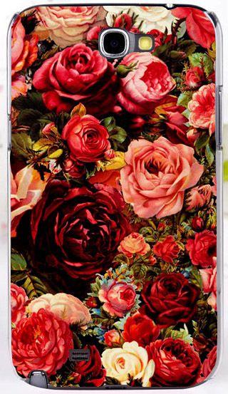 2014 красочные блестящие розы пион красочные цветы красивый фон обложка чехол для Samsung galaxy примечание 2 II N7100, принадлежащий категории Сумки и чехлы для телефонов и относящийся к Телефоны и телекоммуникации на сайте AliExpress.com | Alibaba Group