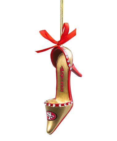 This San Francisco 49ers Shoe Ornament is perfect! #zulilyfinds