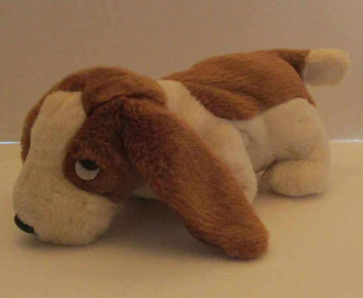 "Ty Tracker Basset Hound Dog Plush 14"" Stuffed Animal Beanie Buddies Puppy 1998 #TY"