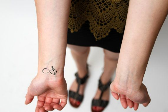 infinity anchor temporary tattoo, set of 2 from tattify on etsy - $5