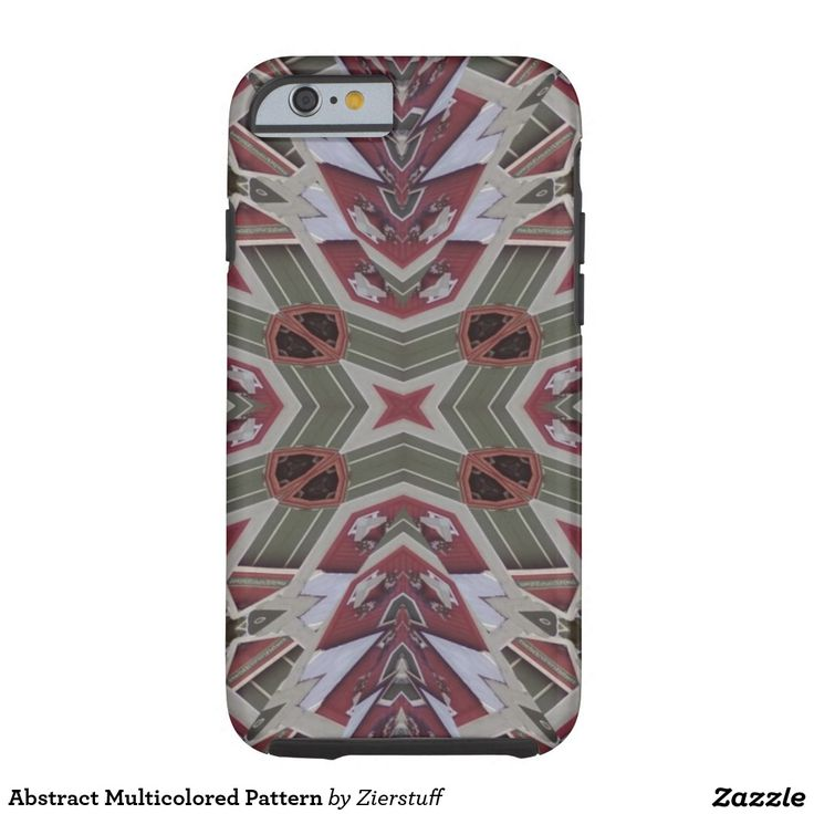Abstract Multicolored Pattern Tough iPhone 6 Case