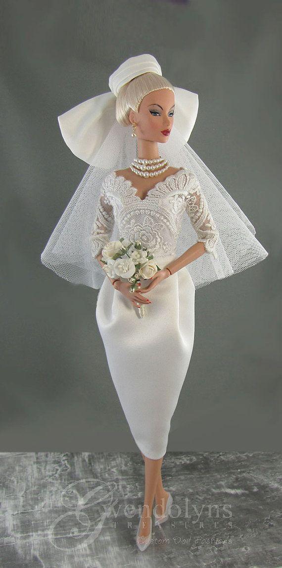 """VINTAGE BRIDAL  set for 12"""" Fashion  Dolls"""