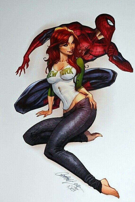 #Spiderman #Fan #Art. (Marvel Spider-Man & Mary Jane 2012 Autographed Print) By: J SCOTT CAMPBELL. (THE * 5 * STÅR * ÅWARD * OF: * AW YEAH, IT'S MAJOR ÅWESOMENESS!!!™)[THANK Ü 4 PINNING<·><]<©>