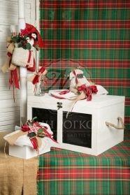 Μένη Ρογκότη - Χριστουγεννιάτικο σετ βάπτισης για αγόρι και κορίτσι με χιονάνθρωπο