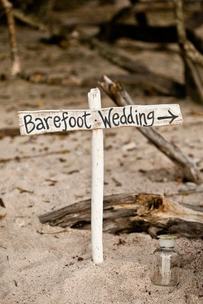 This year barefoot weddings are becoming more and more popular, they are so hippy and free and oh so fun.