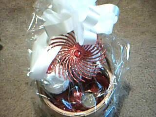 Wedding Gift Basket in red & white by GiftBasketsbyMel on Etsy