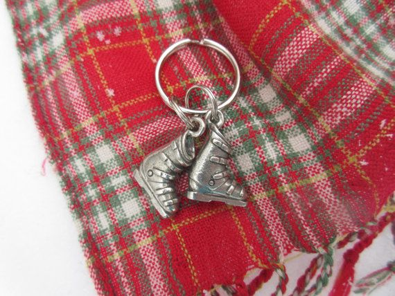 Ski Boots Keychain by jimclift on Etsy