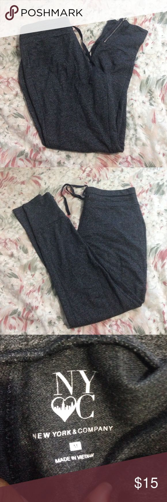 Grey joggers Heathered grey joggers. Size M but fits like a S New York & Company Pants Track Pants & Joggers