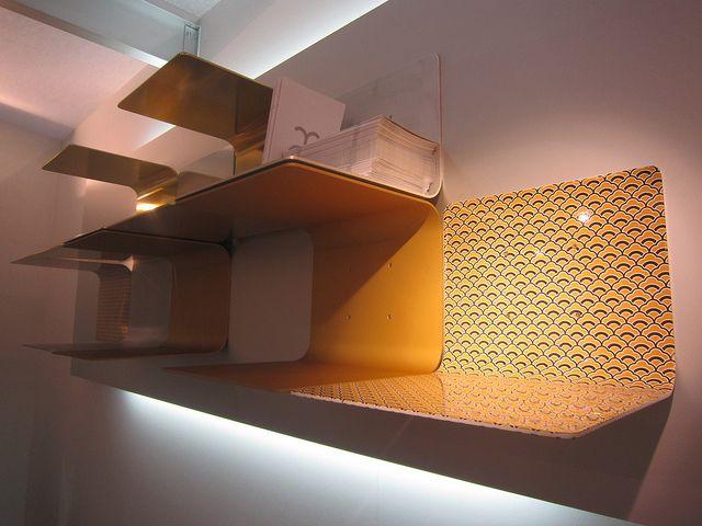 #brickell shelves kimono onda finishing, design by Marco Piva for #altreforme, #district collection at Salone del Mobile 2011 #interior #home #decor #homedecor #furniture #aluminium