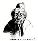 Bigote asiático para Steampunks. Ilustraciones de Nick Kole
