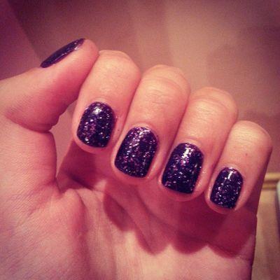 Purple night sky nails http://andreeamaria.com/purple-night-sky-nails/