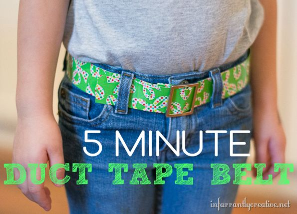DIY Crafts | It only takes a few minutes and a couple supplies to make a DIY belt out of Duck tape!