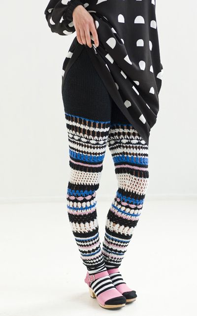 Crochet leggings/tights.  I would definitely wear these all winter if I had the time to make them, ha ha.
