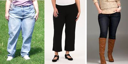DRESSING MISTAKES: If you have thick thights don't choose large, loose pants, or cut lenght, choose a bit slimmer shape.