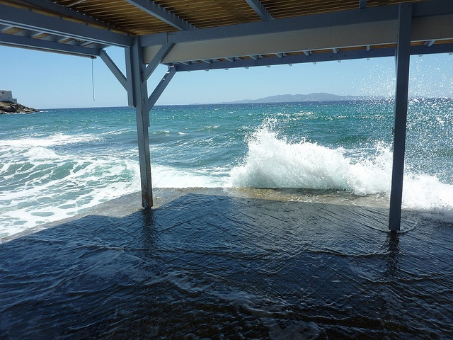 lunch at Thalassaki, Isternia bay, Tinos, Greece